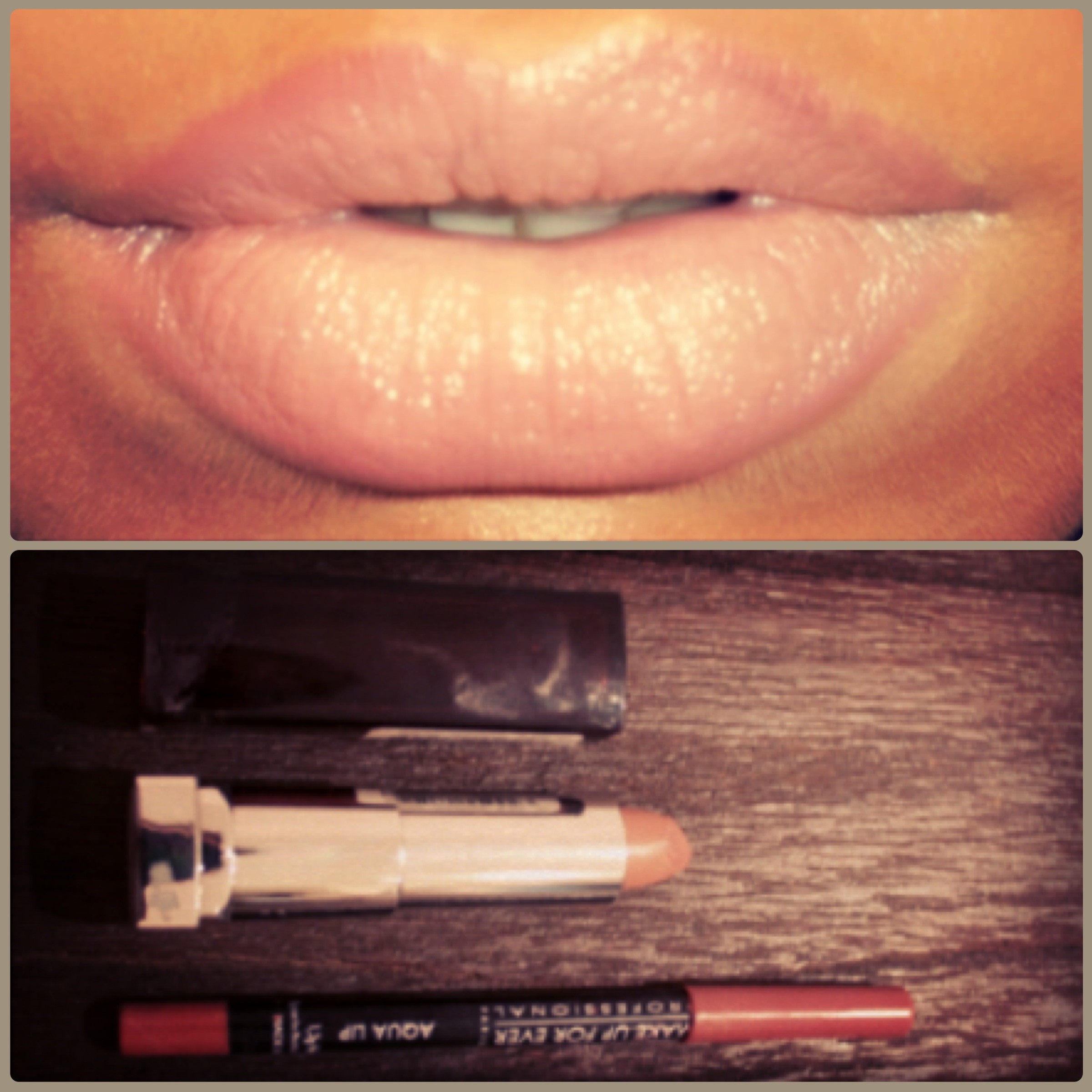 ombre nude lips
