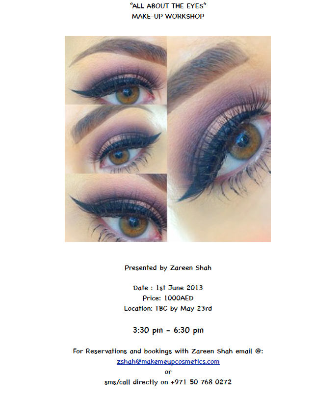"""""""All about the Eyes"""" Make-up Workshop"""