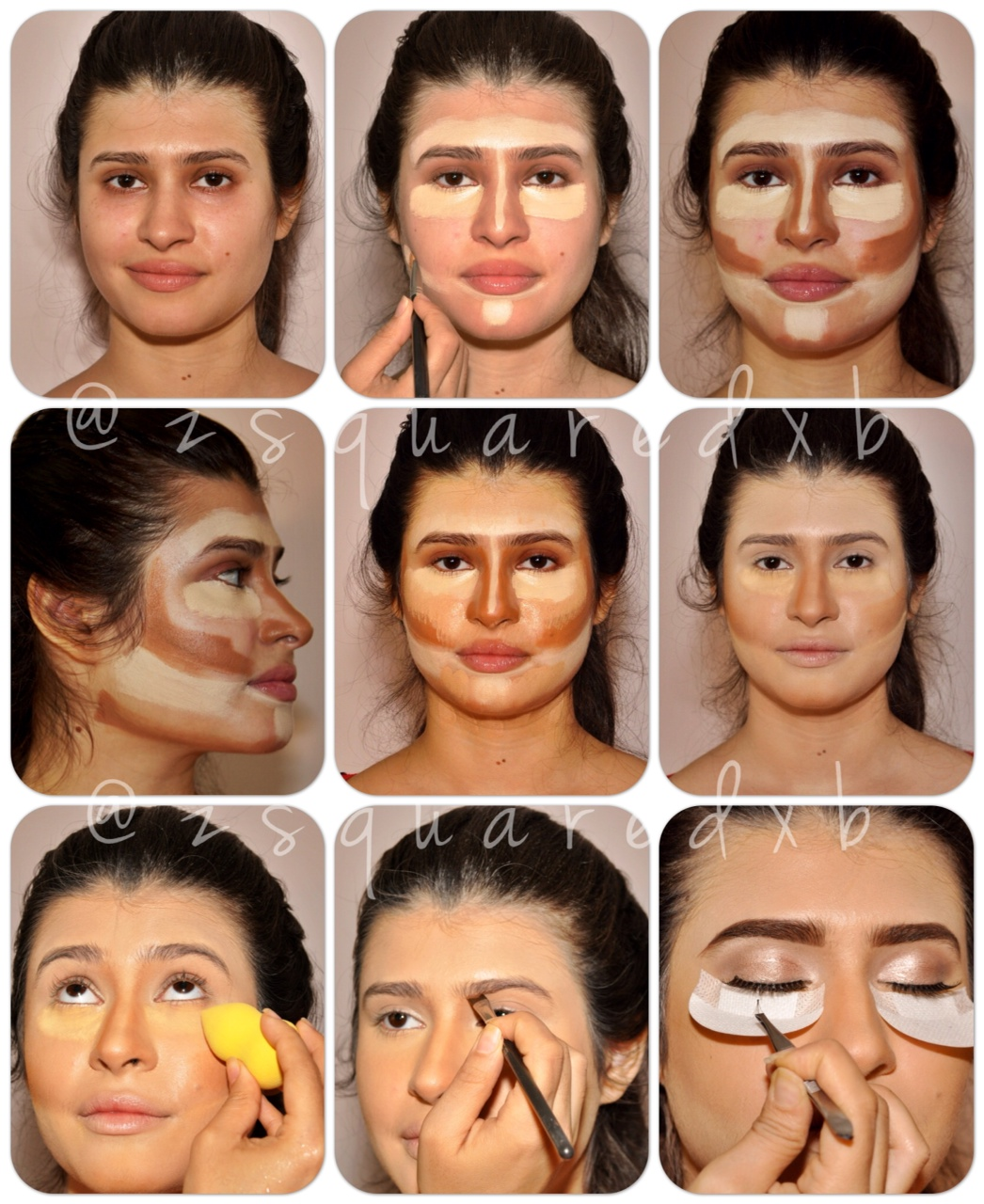 Face makeup tutorial step by pictures